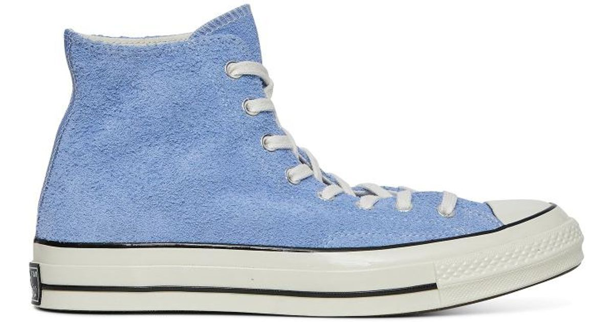 b77e5187912 Lyst - Converse Chuck Taylor All Star Hi 70 s Suede Sneakers in Blue