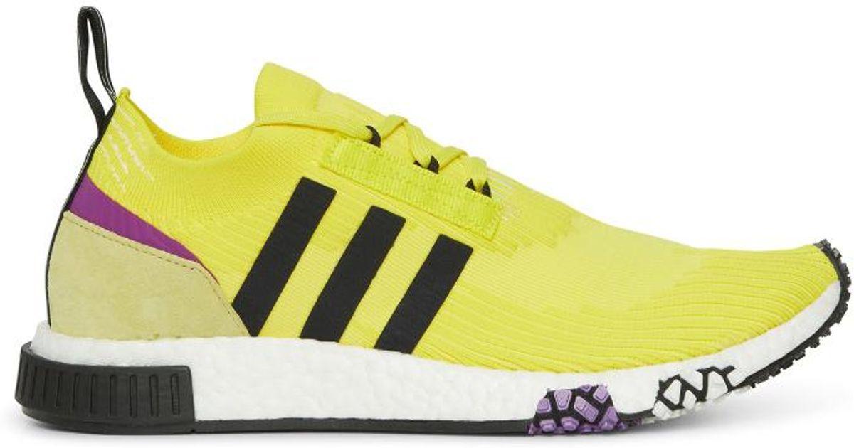 1adf5229d48 Lyst - adidas Originals Nmd Racer Primeknit Sneakers in Yellow