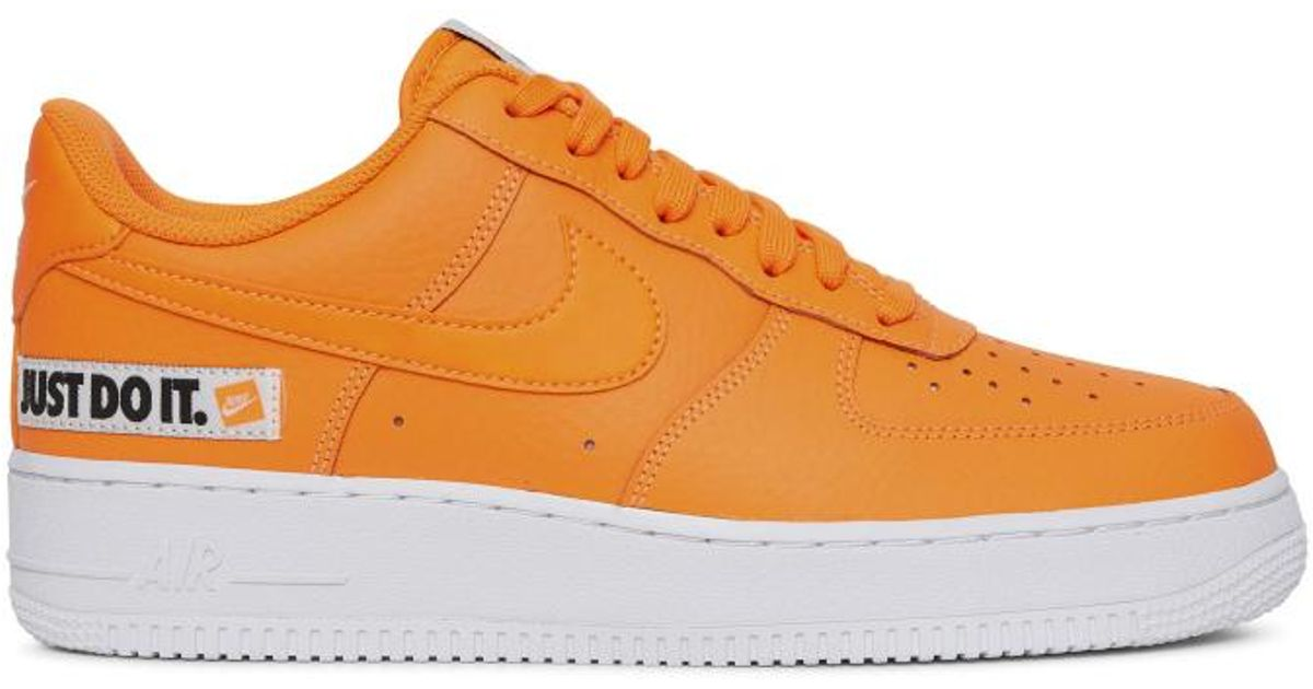 Lyst Nike Air Force 1 'just in Do It' in 'just arancia Save 6.25% b6ad2b