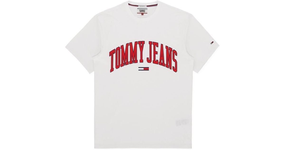 7633cf11a5 Lyst - Tommy Hilfiger Collegiate Logo T-shirt in White for Men