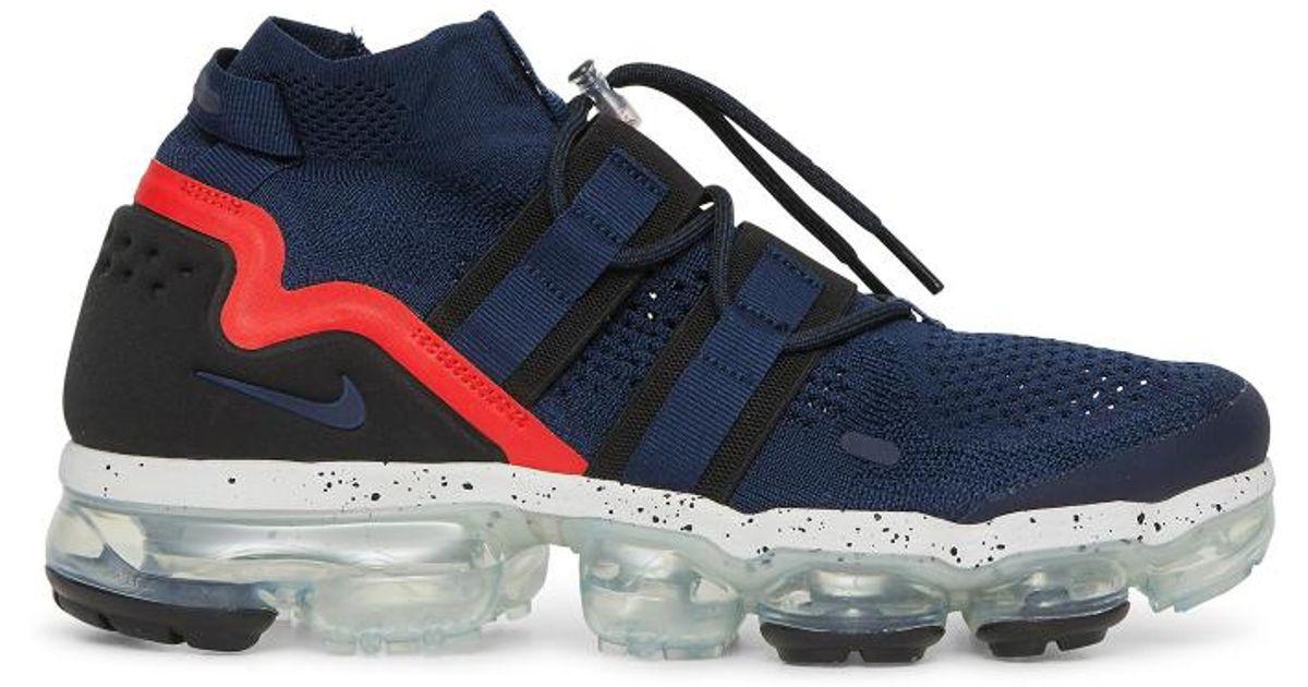 8fc0896c1ea47 Lyst - Nike Air Vapormax Flyknit Utility Sneakers in Blue for Men