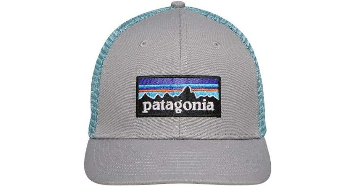 fd7653b401677e Patagonia P-6 Logo Trucker Hat Drigter Grey/dam Blue in Gray for Men - Lyst