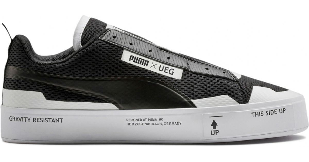 finest selection c433a eb9e2 ... coupon code for puma ueg x court play laceless sneakers in black for  men lyst 19dac