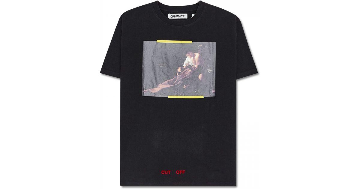 c9b28c47757d Off-White c o Virgil Abloh S. Francesco T-shirt in Black for Men - Lyst