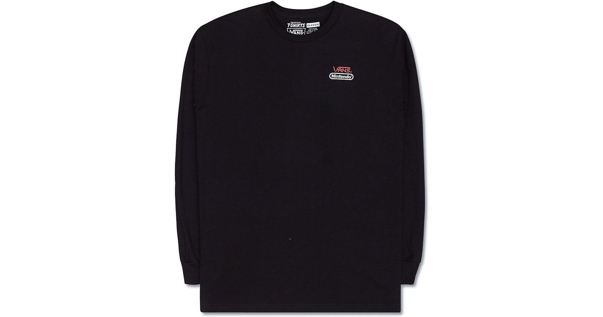 c66200f0cf Lyst - Vans Nintendo Long Sleeve T-shirt in Black for Men