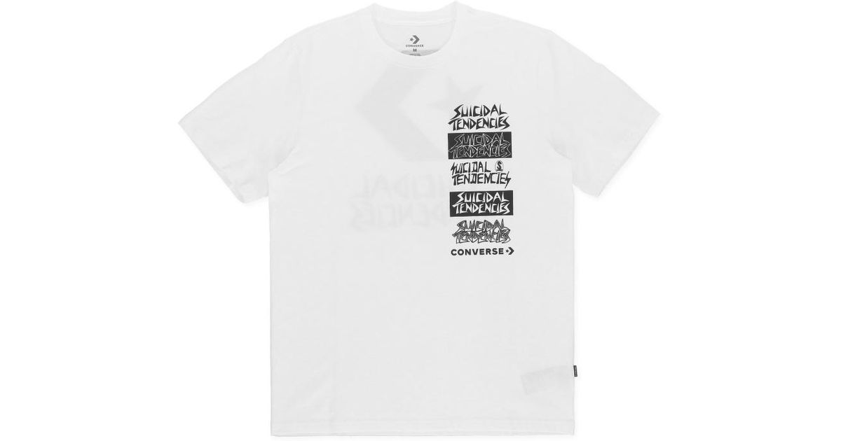 10bc91a99018 Lyst - Converse T-shirt X Suicidal Tendencies in White for Men