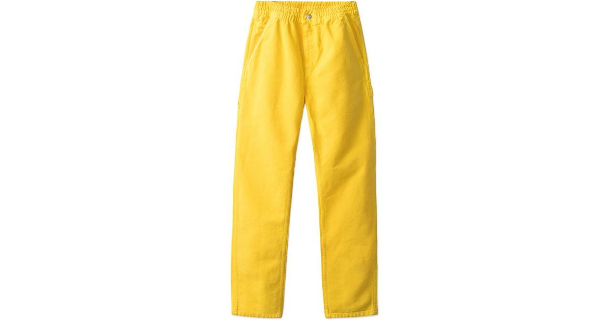 3fdd4fcf Carhartt WIP Brain Dead Beach Carpenter Pants in Yellow for Men - Lyst