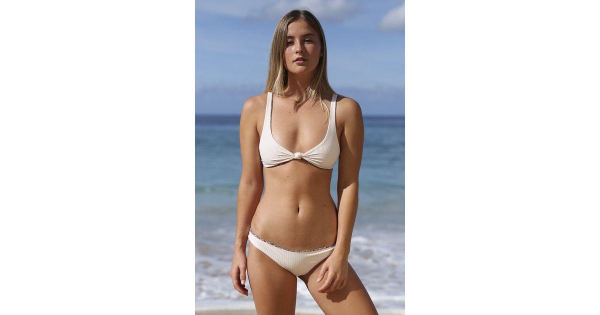 b87eebf140 Lyst - Acacia Swimwear 2018 Spain Top In Pearl Cord