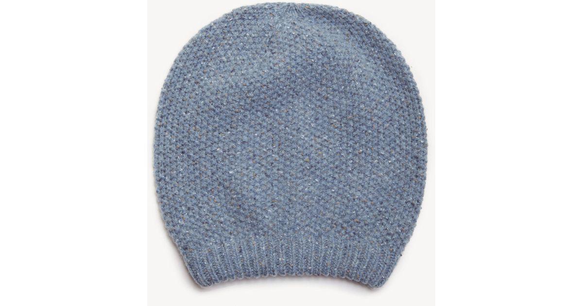 790c4663602 Lyst - Sole Society Slouchy Wool Beanie in Blue