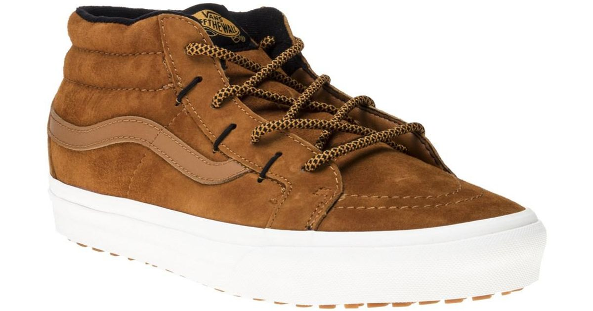 b4841acb2a Vans Sk8 Mid Ghillie Mte Trainers in Brown for Men - Lyst