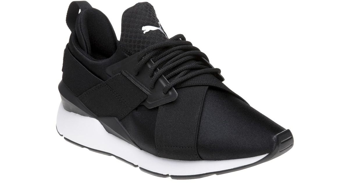 4bff7e165c7 PUMA Muse X-trap Satin Trainers in Black for Men - Save 39% - Lyst