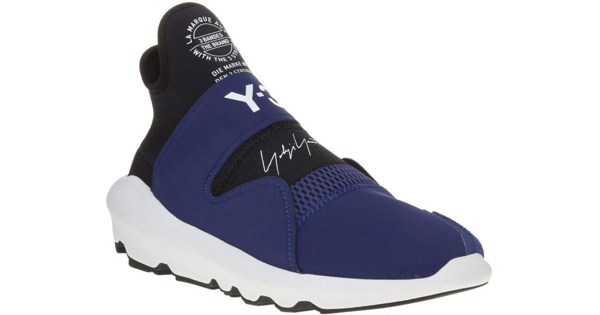 size 40 e572e 93901 Y-3 Suberou Trainers in Blue for Men - Save 70% - Lyst