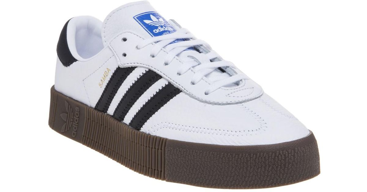 d4d65dfcffd adidas Originals Samba Rose Lace-up Sneakers in White - Save 12% - Lyst
