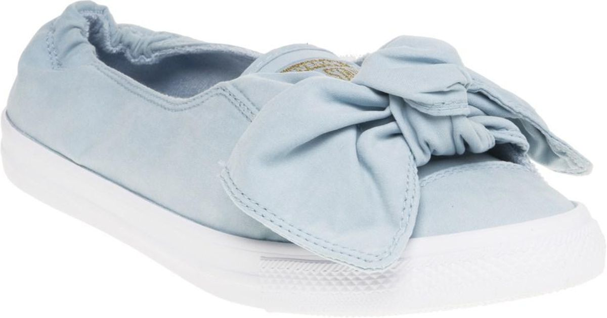 47cec561c05f29 Converse All Star Knot Slip Trainers in Blue - Lyst