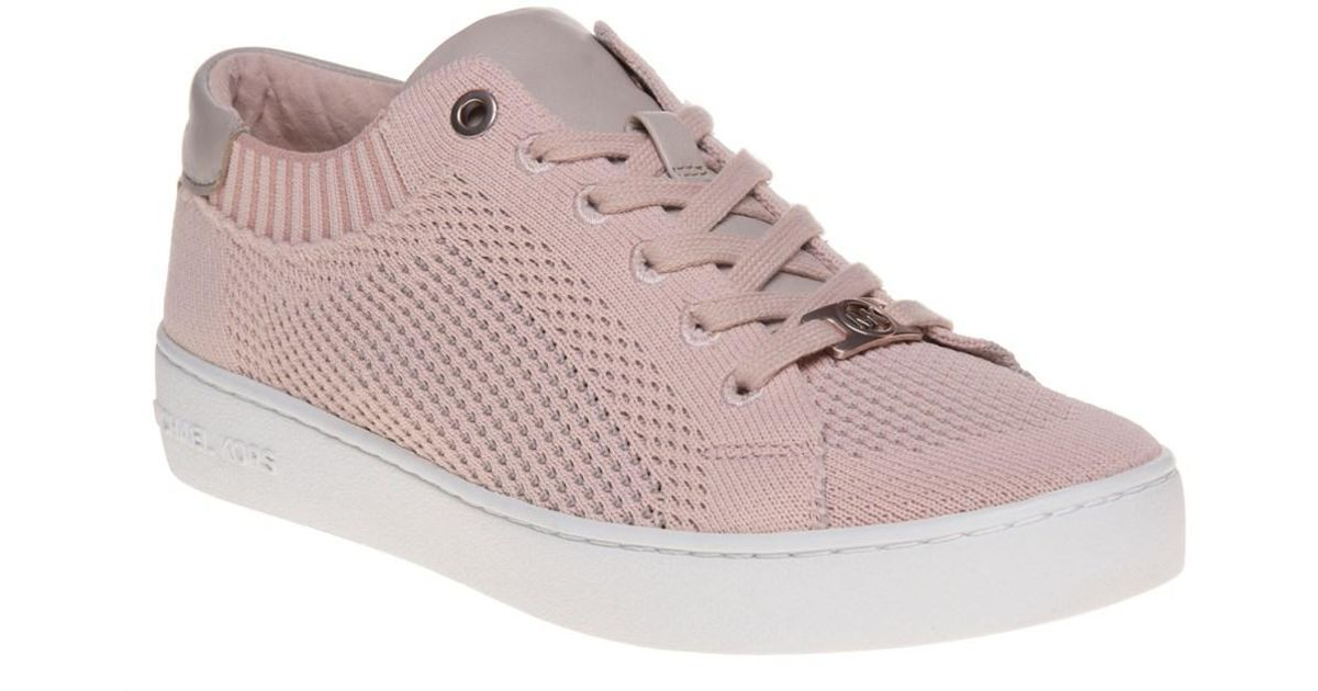 160008cf90a6 Michael Kors Skyler Lace Up Trainers in Pink - Lyst