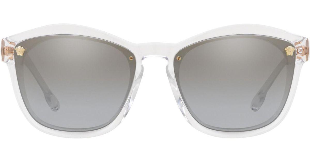 81bbf6f39f Lyst - Versace Ve4350 Rectangle Sunglasses in Gray