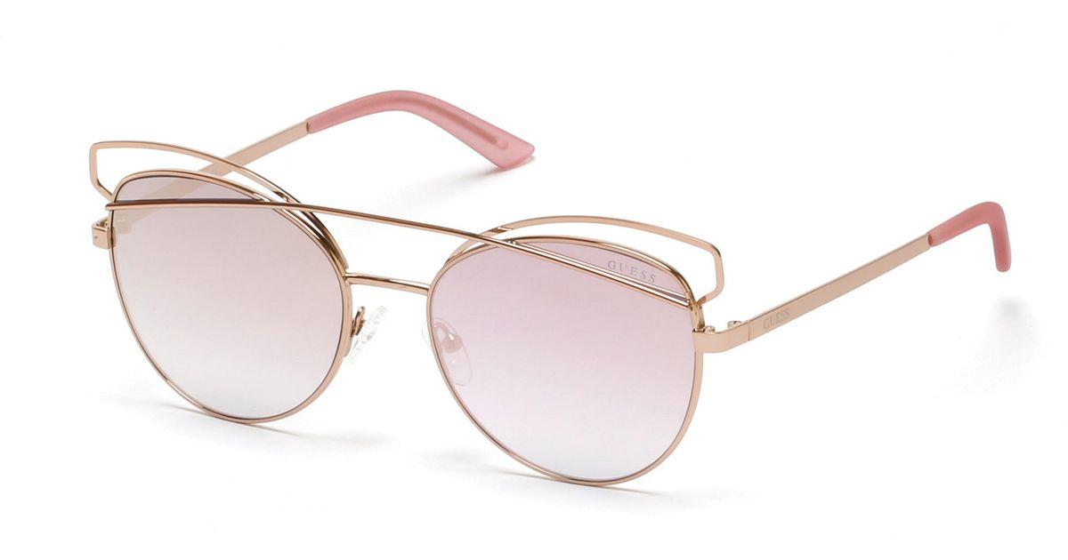 f251f438c9 Lyst - Guess 6040 Cateye Sunglasses in Pink