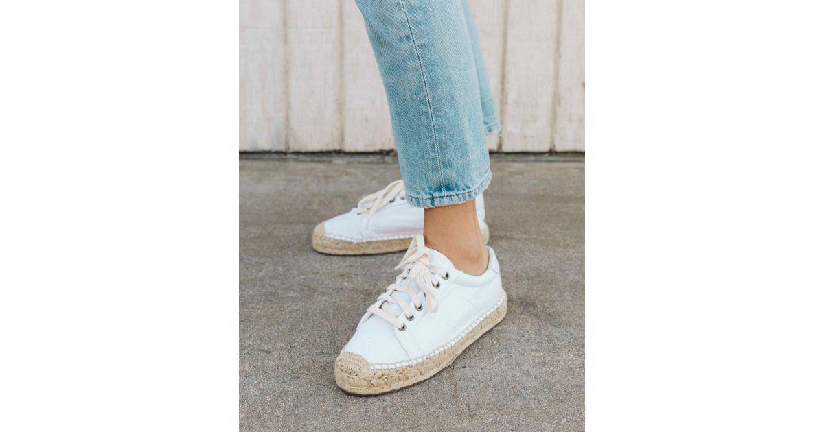 082e3e471fa Lyst - Soludos Platform Tennis Sneaker in White