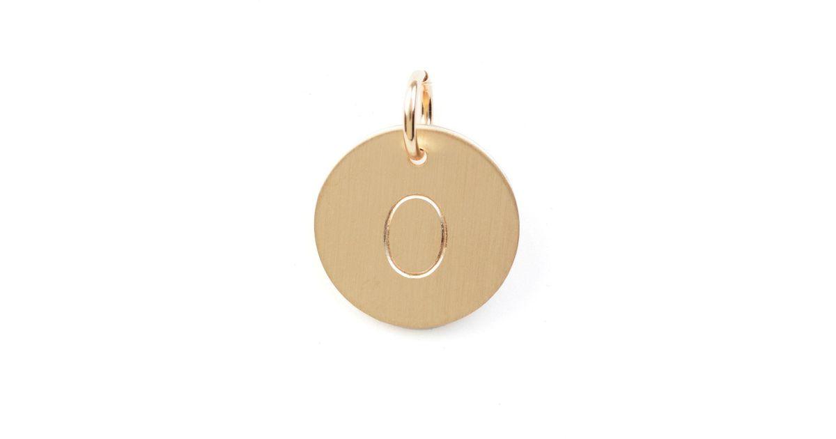 Nashelle O Initial Disc Necklace Charm Gold wYXcgv