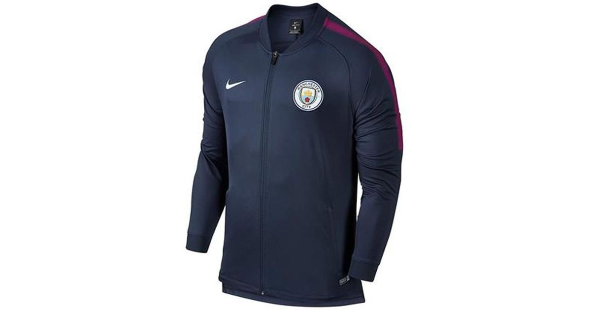 6730016e459 Nike 2017-2018 Man City Core Trainer Jacket Men s Tracksuit Jacket In Blue  in Blue for Men - Lyst