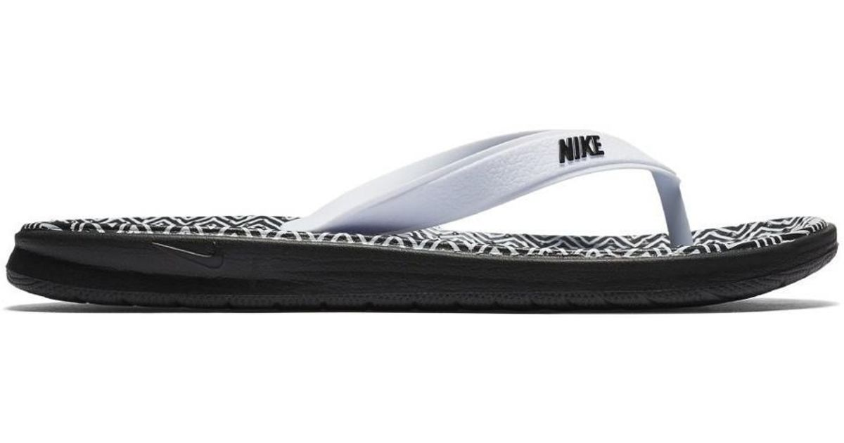 b623f10e7 Nike Solay Thong Womens Print Sandal Women's Flip Flops / Sandals (shoes)  In White in White - Lyst