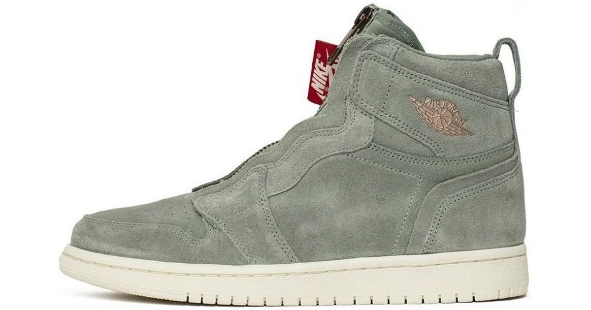 Nike Wmns Air Jordan 1 High Zip Men s Shoes (high-top Trainers) In Grey in  Gray for Men - Lyst e6152204d