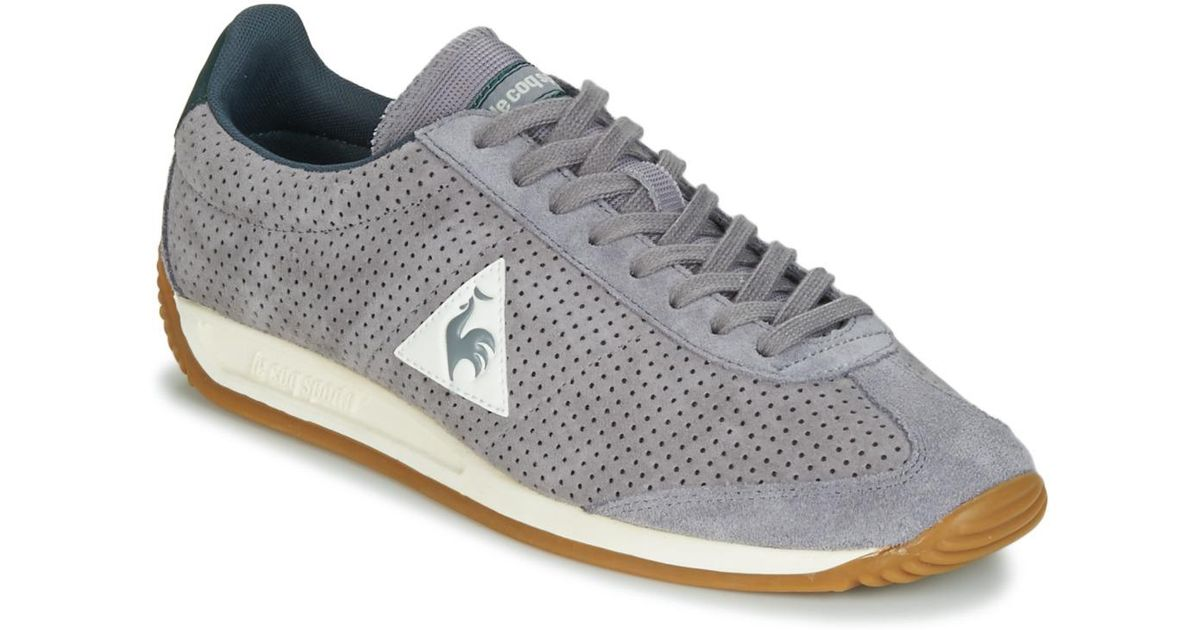 cc66bddd2b Le Coq Sportif Quartz Perforated Nubuck Men's Shoes (trainers) In Grey in  Gray for Men - Lyst