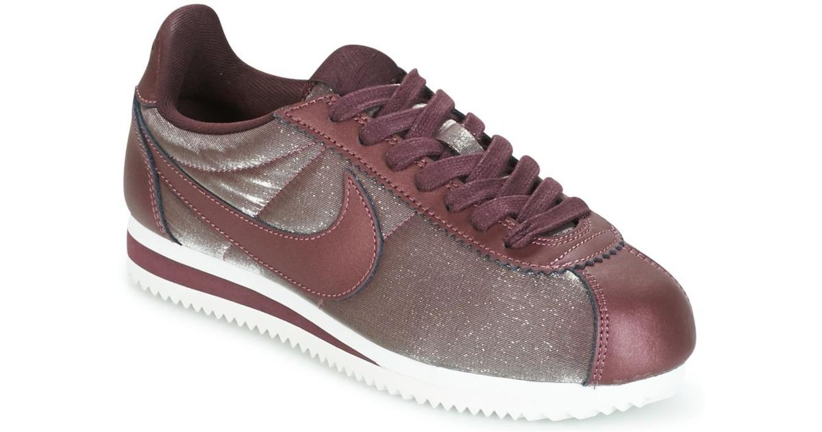 purchase cheap a0ce7 55eeb Nike Classic Cortez Premium W Women s Shoes (trainers) In Brown in Brown -  Lyst