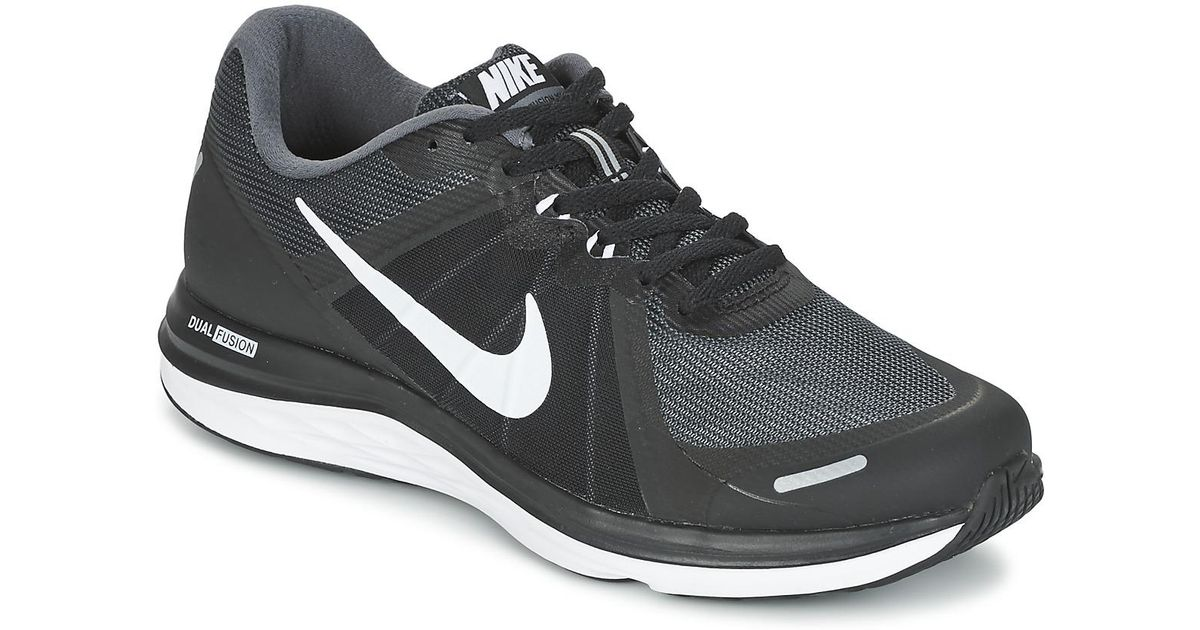 2c46c2a98f9695 Nike Dual Fusion X 2 Men s Running Trainers In Black in Black for Men - Lyst