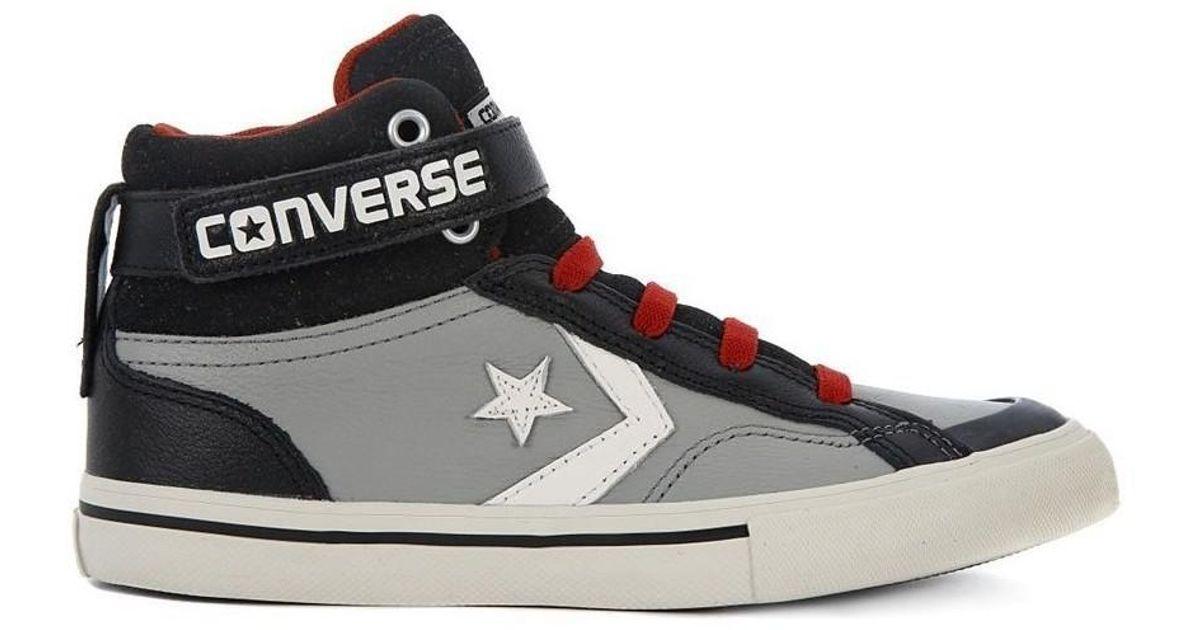 60e9e2325df0 Converse Pro Blaze Strap Women s Shoes (high-top Trainers) In Black in  Black - Lyst