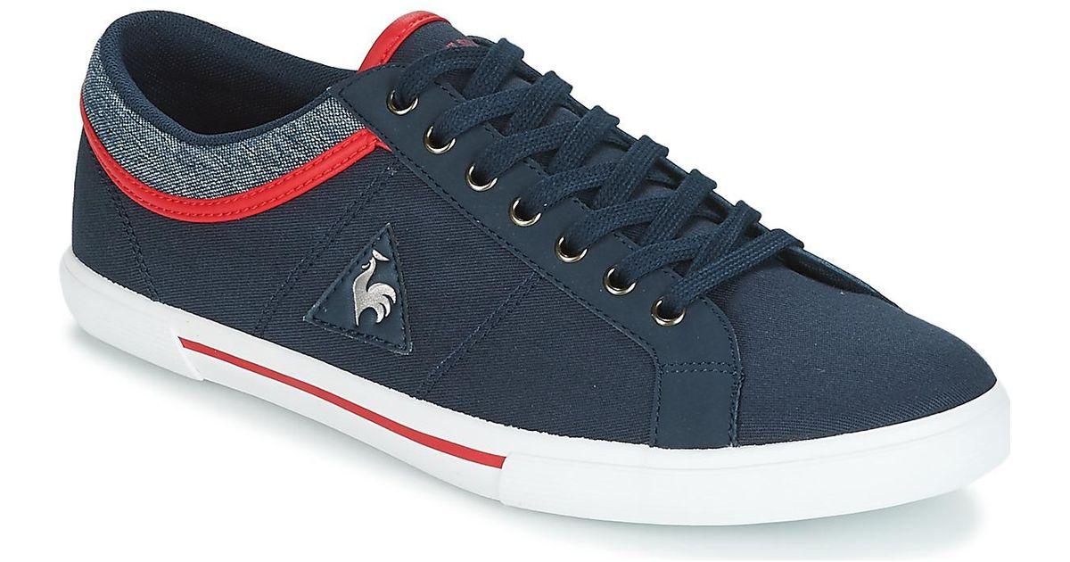 1d8090604412 Le Coq Sportif Saint Dantin Canvas 2 Tones Men s Shoes (trainers) In Blue  in Blue for Men - Lyst
