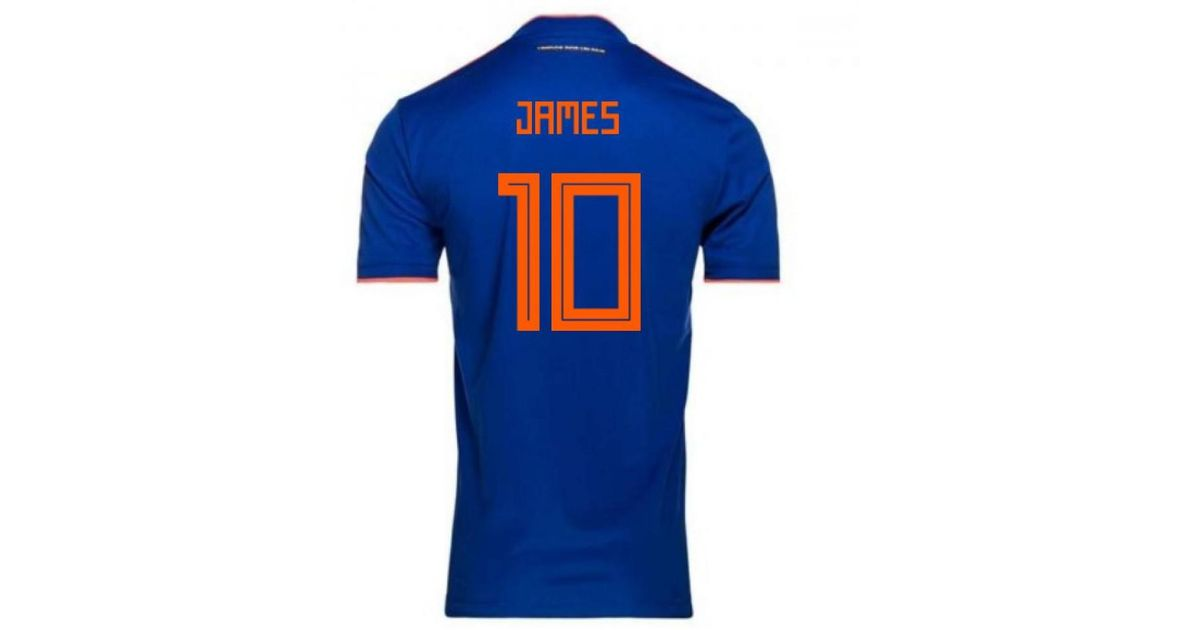 the best attitude 1674a 71371 Adidas - 2018-2019 Colombia Away Football Shirt (james 10) - Kids Women's T  Shirt In Blue - Lyst