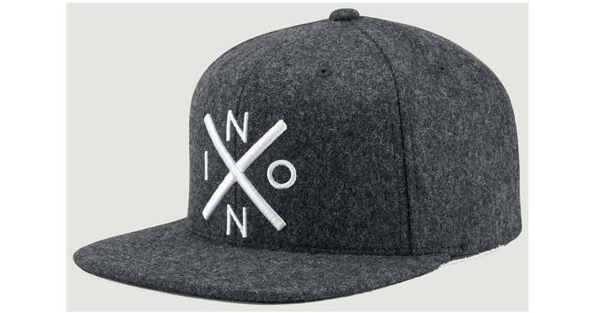 Nixon Exchange Snapback Cap 54830 Anthracite Men s Cap In Grey in Gray for  Men - Lyst e1d1e688ba8