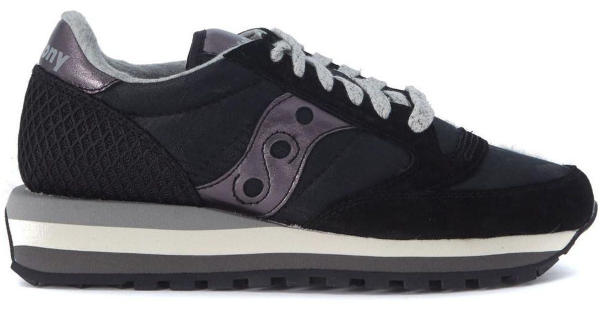 1bf32d8d0198 Saucony Jazz Triple Black Camouflage And Metal Sneakers Women s In Black in  Black - Lyst