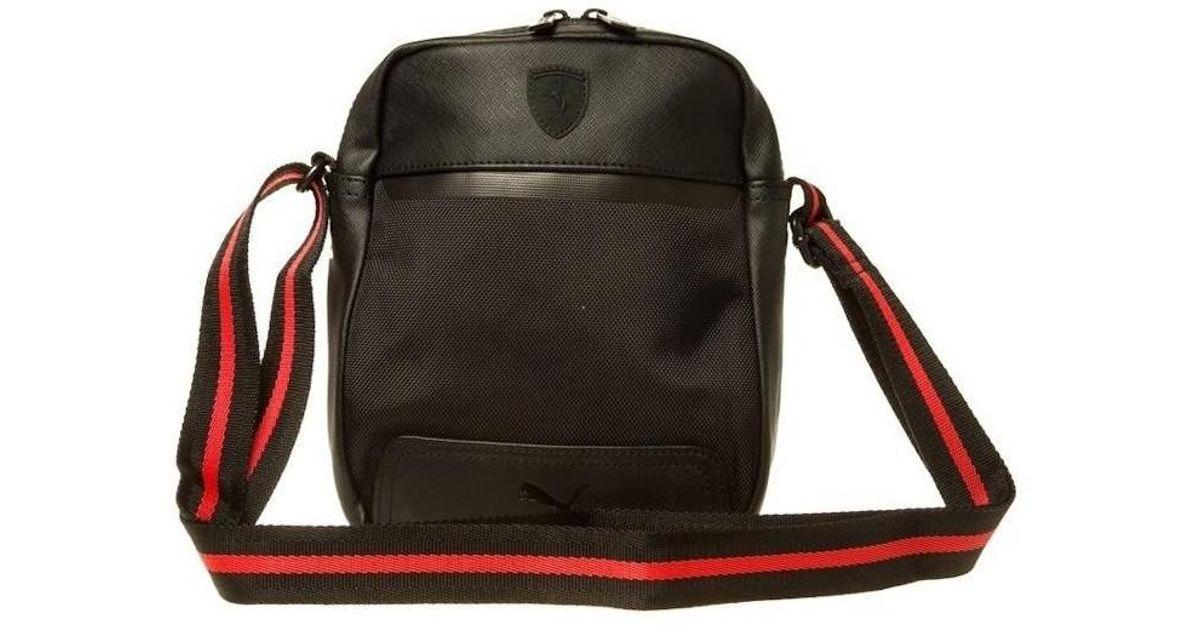 02dd3be8c948 ... Bags cheap for sale 5533d c751f  Puma Ferrari Ls Portable Mens Shoulder  Bag In Black in Black for Men - Lyst beauty ...
