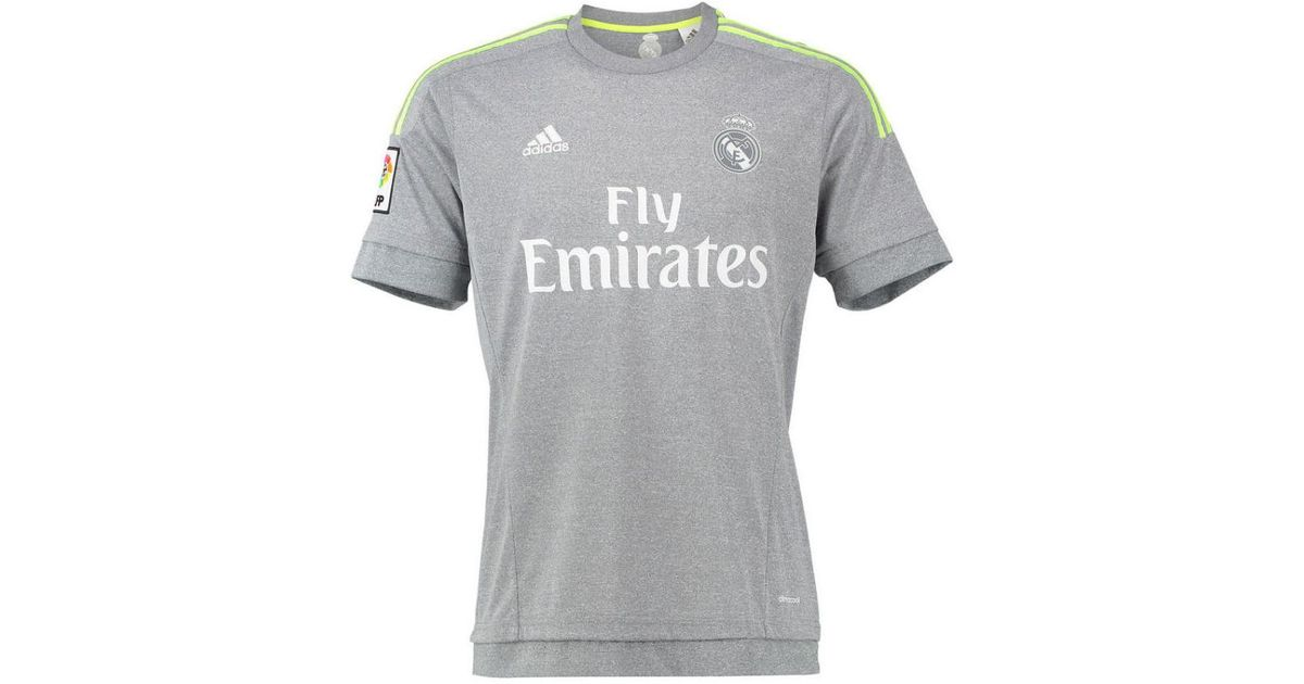 huge discount a3a07 5ed47 Adidas Gray 2015-16 Real Madrid Away Shirt (sergio Ramos 4) - Kids Women's  T Shirt In Grey