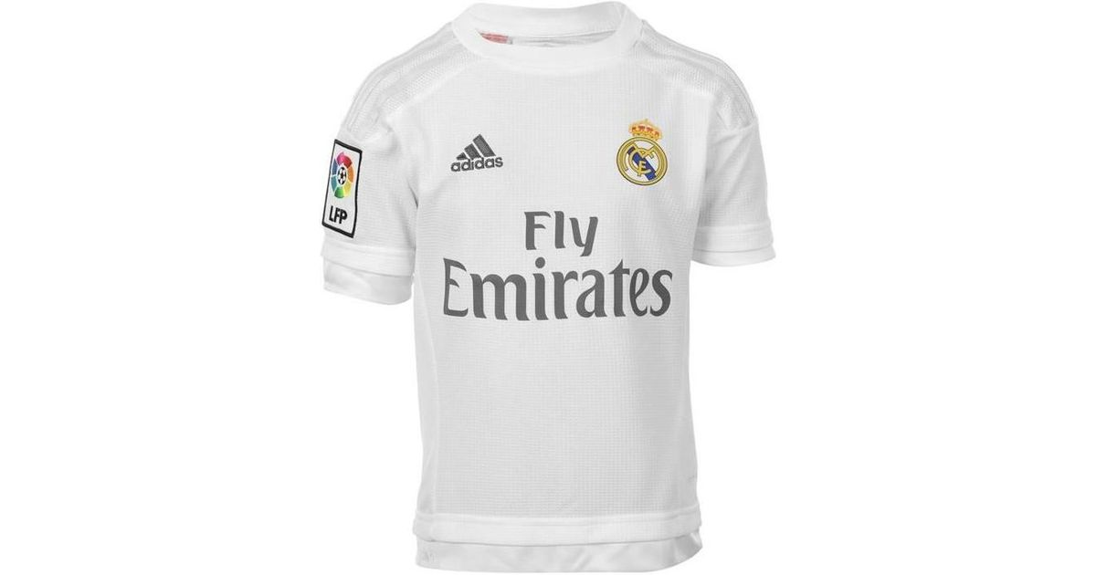 on sale cd158 a4733 Adidas - 2015-16 Real Madrid Home Shirt (sergio Ramos 4) - Kids Men's T  Shirt In White for Men - Lyst