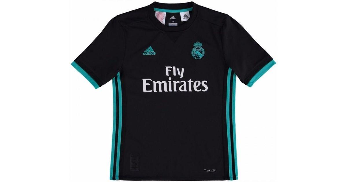 d78c2314c adidas 2017-18 Real Madrid Away Shirt - Kids (ronaldo 9) Men s T Shirt In  Black in Black for Men - Lyst