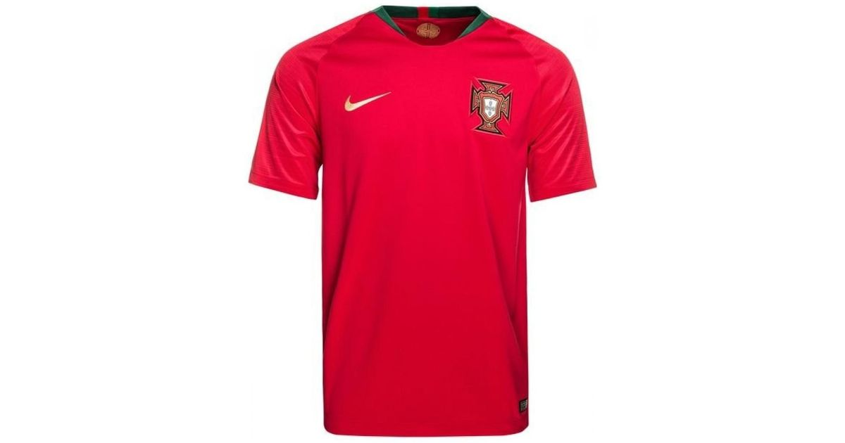Nike 2018-2019 Portugal Home Football Shirt Men s Polo Shirt In Red in Red  for Men - Lyst 9944bdd0a6b8