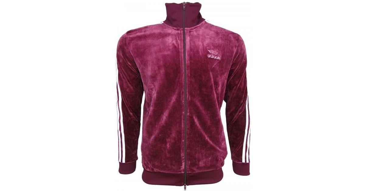 a774cbdc815d adidas Velour Bb Tt Men s Tracksuit Jacket In Purple in Purple for Men -  Lyst