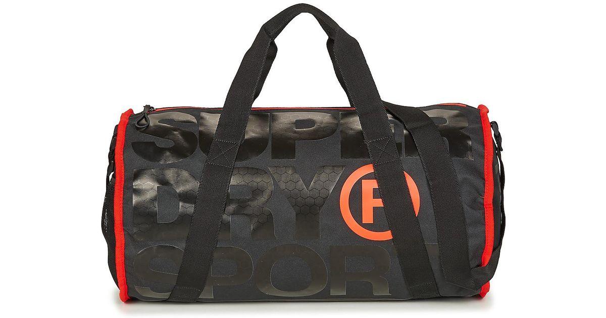 Superdry Xl Sports Barrel Men s Sports Bag In Black in Black for Men - Lyst a76241516d