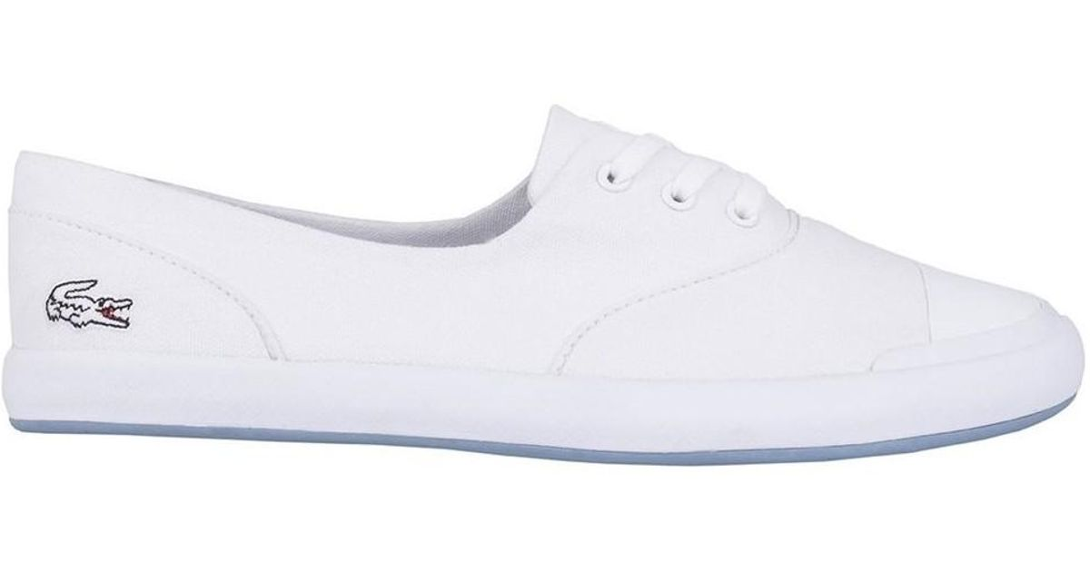 2197ff37296b Lacoste Lancelle Lace Women s Shoes (trainers) In White in White - Lyst