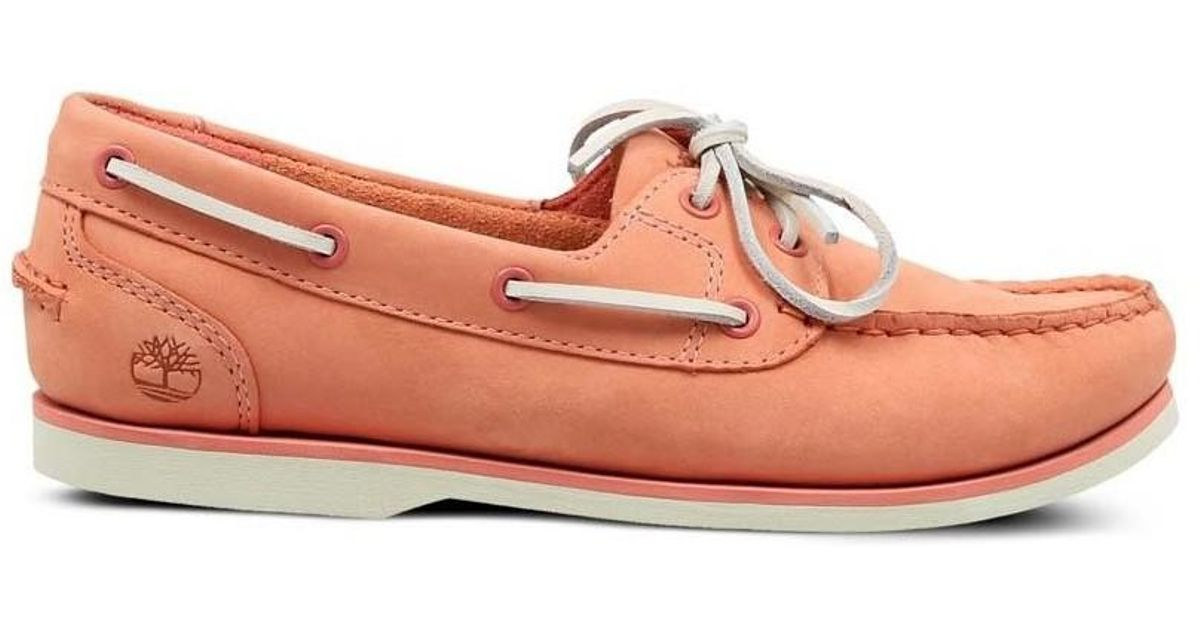 02ff67f706ef9f Timberland Classic Boat Women's Loafers / Casual Shoes In Pink in Pink -  Lyst