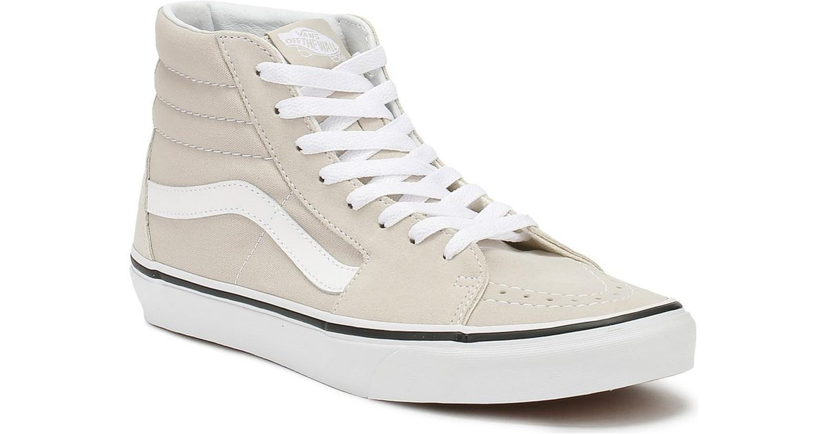 4947eb938c Vans Silver Lining   True White Sk8-hi Trainers Women s Shoes (high-top  Trainers) In Beige in Natural - Lyst