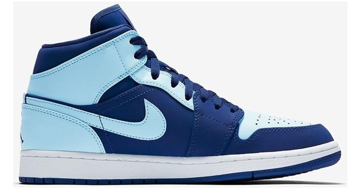 best sneakers faec8 bf16f Nike Air Jordan 1 Mid Ice Blue Men s Shoes (high-top Trainers) In  Multicolour in Blue for Men - Lyst