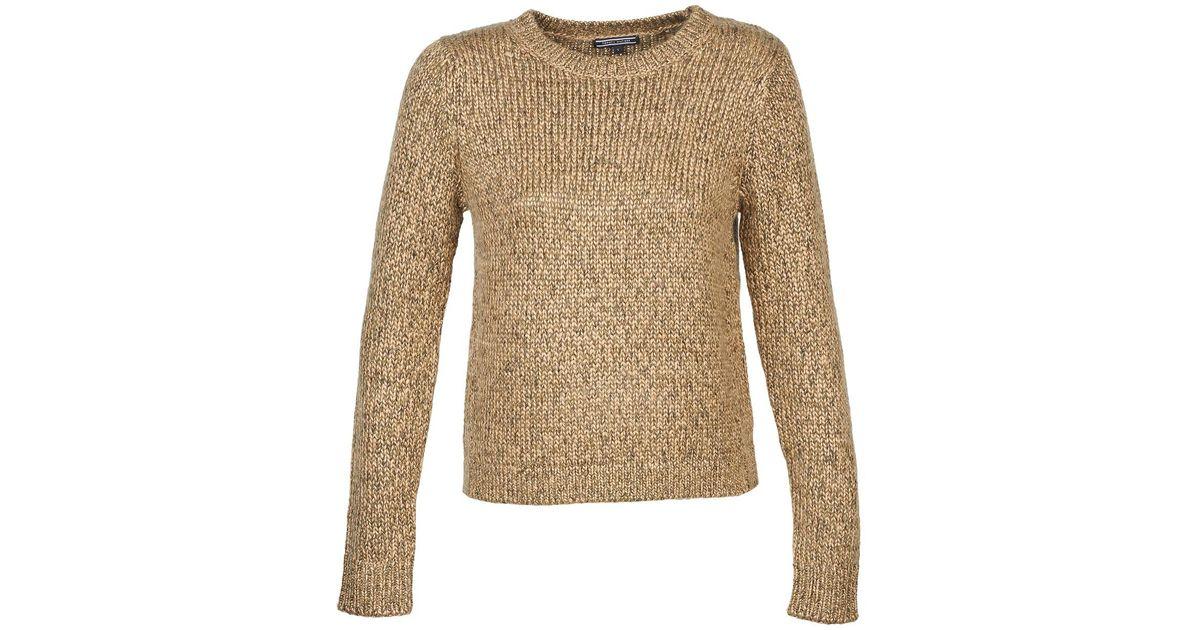 c29f7e429b Tommy Hilfiger Frola Lurex Tweed C-nk Swtr Women s Sweater In Brown in  Brown - Lyst
