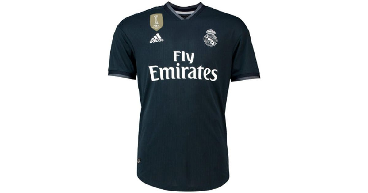 adidas 2018-2019 Real Madrid Authentic Away Football Shirt Men s T Shirt In  Black in Black for Men - Lyst aed0b8d34
