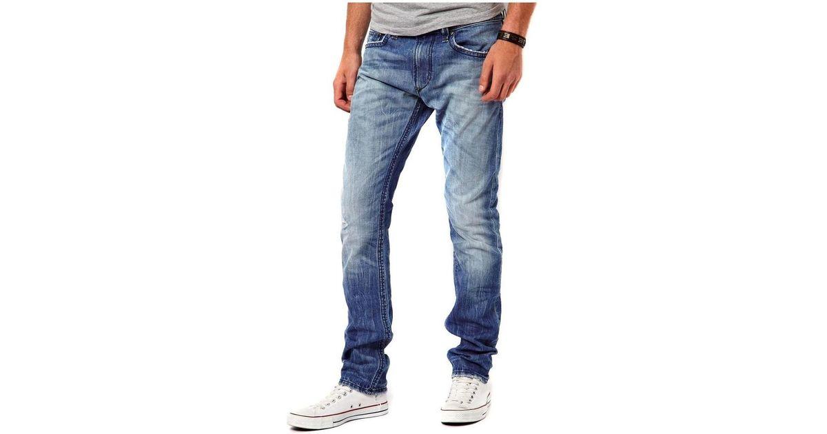 e3b4f1d8 DIESEL - Men's Jeans Thavar 816p - Slim Skinny Men's Skinny Jeans In Blue  in Blue for Men - Save 2% - Lyst