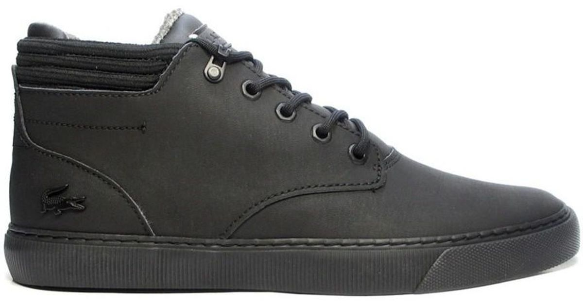 12fafdf40a88 Lacoste Esparre Winter C Men s Shoes (high-top Trainers) In Black in Black  for Men - Lyst