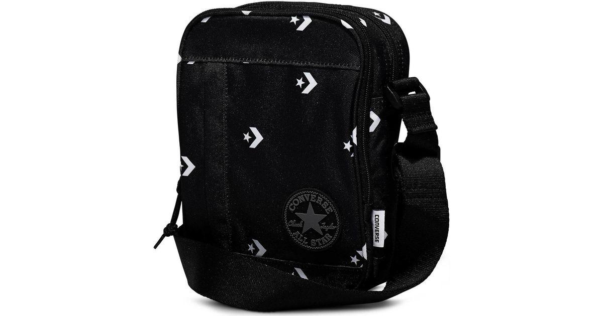 b0ac65010d24 Converse Core Poly Cross Body Bag - Star Chevron Black Men s Messenger Bag  In Other in Black for Men - Lyst
